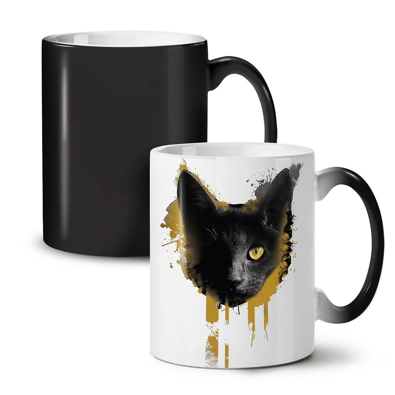 OzWellcoda Café Noir Nouveau Thé Céramique Adorable Couleur 11 Animal Tasse De Changeant Kitty 2IYW9DEH