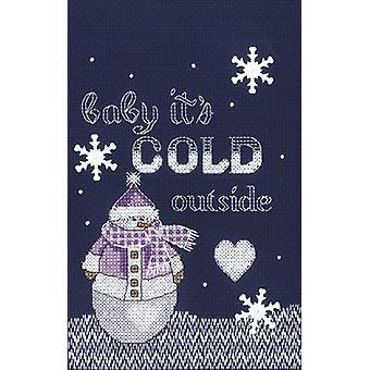 Cold Outside Counted Cross Stitch Kit-5
