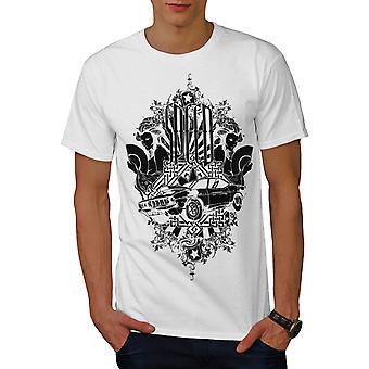 Vintage Mädchen Auto Männer WhiteT-t-Shirt zu beschleunigen   Wellcoda