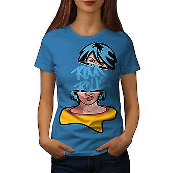 Rock & Roll Girl Music Women Royal BlueT-shirt | Wellcoda