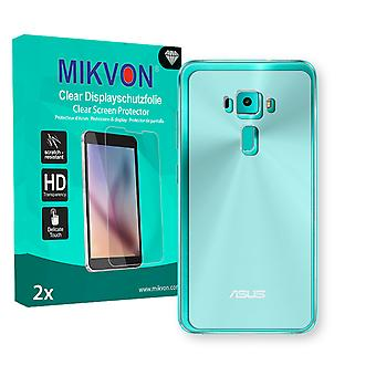 Asus ZenFone 3 (ZE552KL) reverse Screen Protector - Mikvon Clear (Retail Package with accessories) (intentionally smaller than the display due to its curved surface)