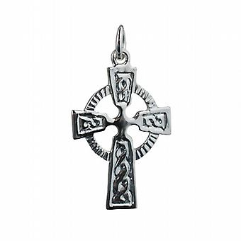 Серебряные 28x19mm кельтские рельефным узором крест