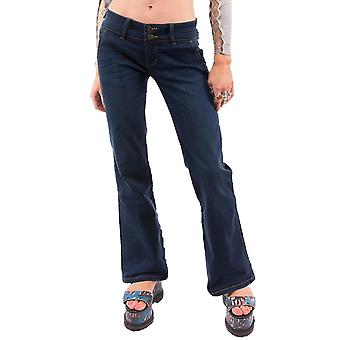 Bootcut Flared Hipster Jeans - Dark Blue