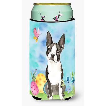Easter Eggs Boston Terrier Tall Boy Beverage Insulator Hugger