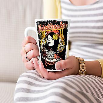Heartbreaker Rose Fashion NEW White Tea Coffee Ceramic Latte Mug 17 oz | Wellcoda