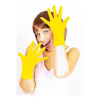 Gloves  Short gloves yellow basic
