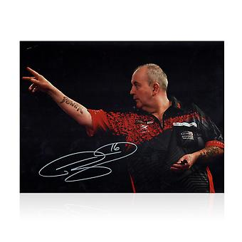Phil Taylor Signed Darts Photo: 2018 World Darts Championships