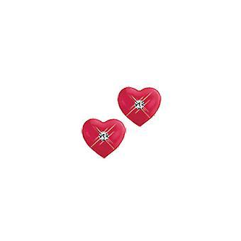 Scout children earrings silver heart red girl 262145100