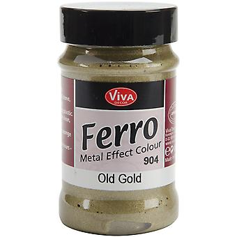 Ferro Metal Effect Textured Paint 3oz-Old Gold