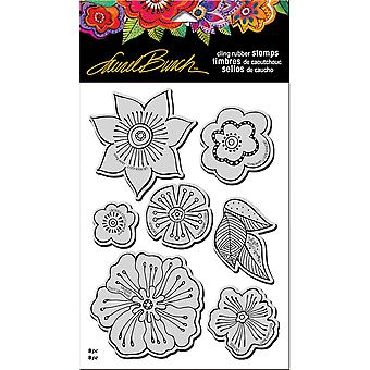 Stampendous Laurel Burch Cling Stamp W/ Template 9