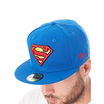New Era Blue-Red-Yellow Character Essential 59Fifty Superman Fitted Cap