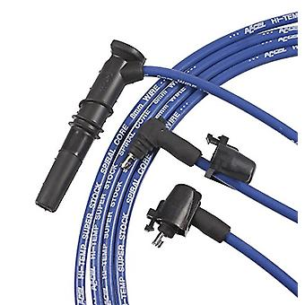 ACCEL 5137B 8 mm Super Stock Blue Spiral Wire Set