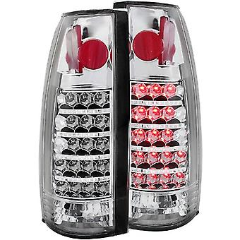 Anzo USA 311058 Cadillac/Chevrolet/GMC Chrome LED Tail Light Assembly - (Sold in Pairs)