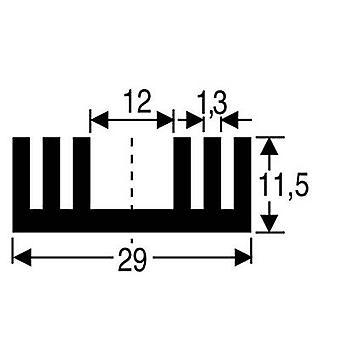 Heat sink 8.6 C/W (L x W x H) 37.5 x 29 x 11.5 mm TO 220, SOT 32 Fischer Elektronik SK 09 37,5 SA