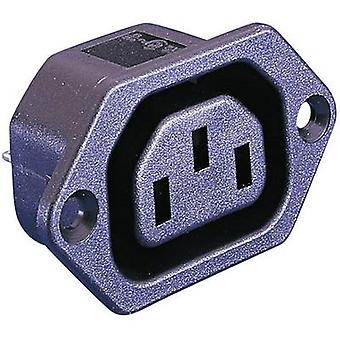 IEC connector PX Series (mains connectors) PX Socket, vertical vertical Total number of pins: 2 + PE 10 A Black Bulgin PX0675/28 1 pc(s)
