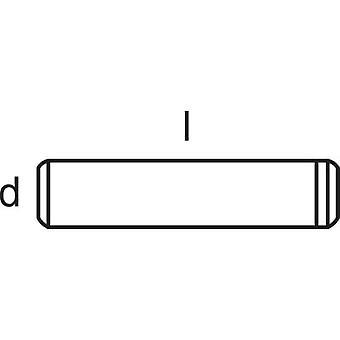TOOLCRAFT 828014 Straight pin (Ø x L) 5 mm x 40 mm Steel 50 pc(s)