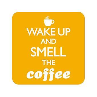 Wake Up & riechen Kaffeegetränke Matte / Coaster