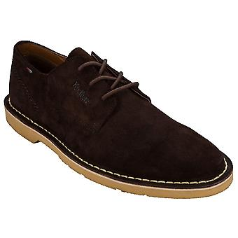 Men's Kickers Kanning Lace Suede Shoes In Brown