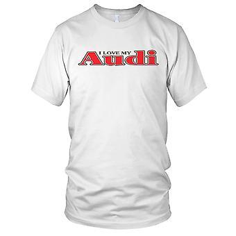 Jeg elsker min Audi legendariske bil Mens T-skjorte