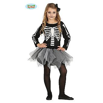 Guirca eerie skeleton girl Halloween Tutu dress child costume