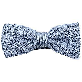 Knightsbridge Neckwear Plain Knitted Bow Tie - Sky Blue