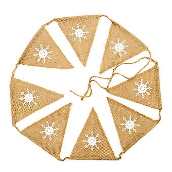 Flocons de neige TRIXES 1 mètre Vintage jute Triangle Bunting Multi couleur