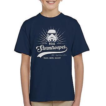 T-shirt original Baseball Stormtrooper texto infantil