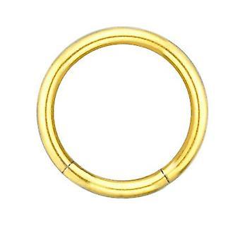 Segment Ring guld pläterad kropp piercingsmycken, tjocklek 1,2 mm | Diameter 6-12 mm