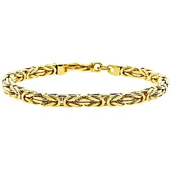 Iced Out Edelstahl BYZANTIN Armband - 4mm gold