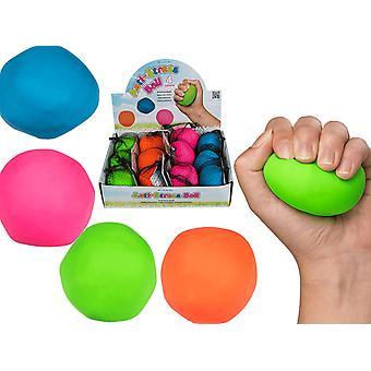 4-Pack Kläm Och Formbar Stressboll Antistress Boll Squeeze Neon Färger