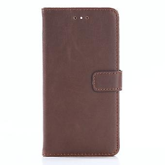 Huawei P10 Plus Stylish Wallet case Brown