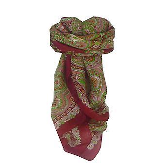 Mulberry tradisjonelle torget silkeskjerf Madras rød Pashmina & Silk