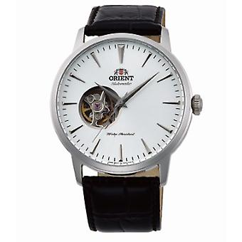 Oriental stylish watch for men with real leather bracelet silver
