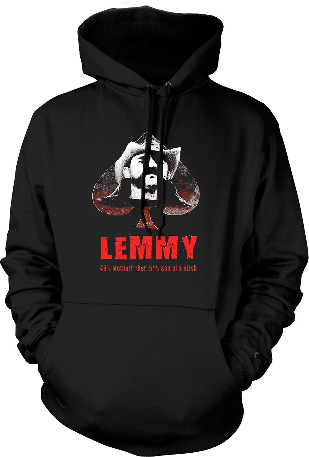 Mens Hoodie - Lemmy - Motorhead - 49% Mother**