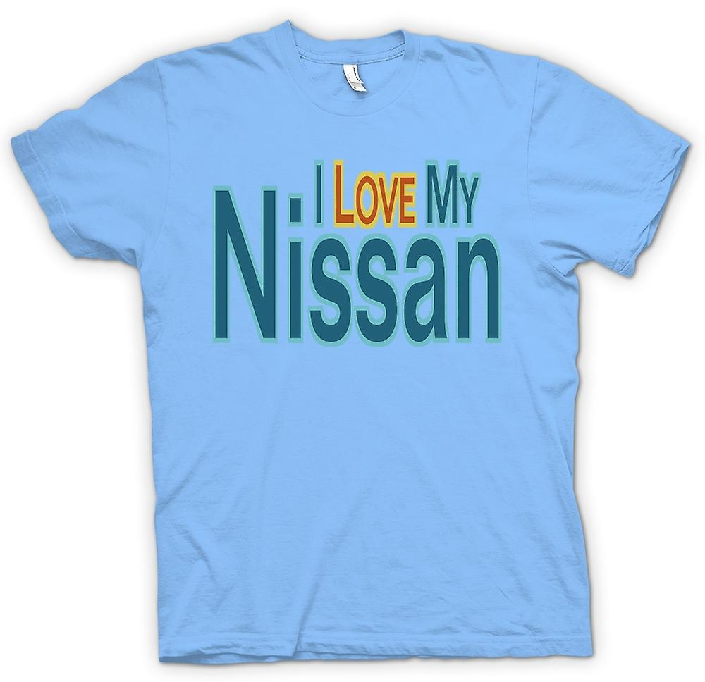 Mens T-shirt - I love my Nissan - Car Enthusiast