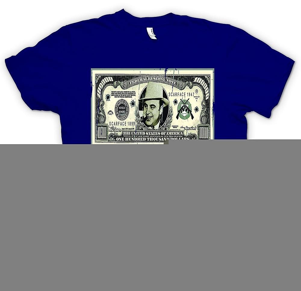 Heren T-shirt - 100 k $ Bill - Al Capone Opmerking