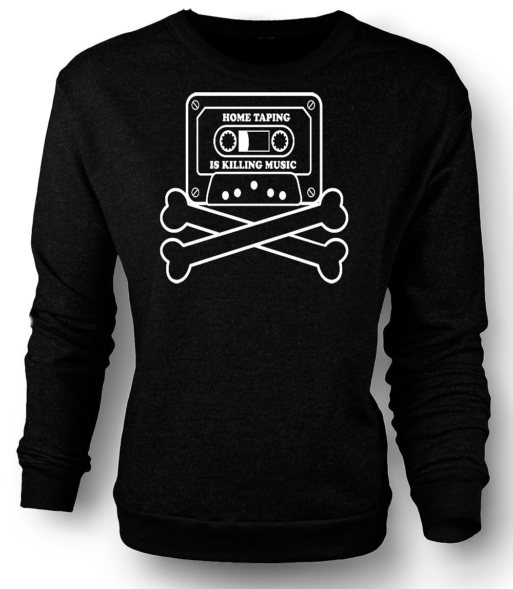 Mens Sweatshirt Home Taping piratage - Funny
