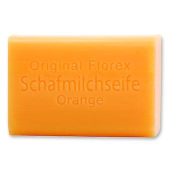 Florex Schafmilchseife - Orange - mit spritzig fruchtigem Orangenduft 100 g