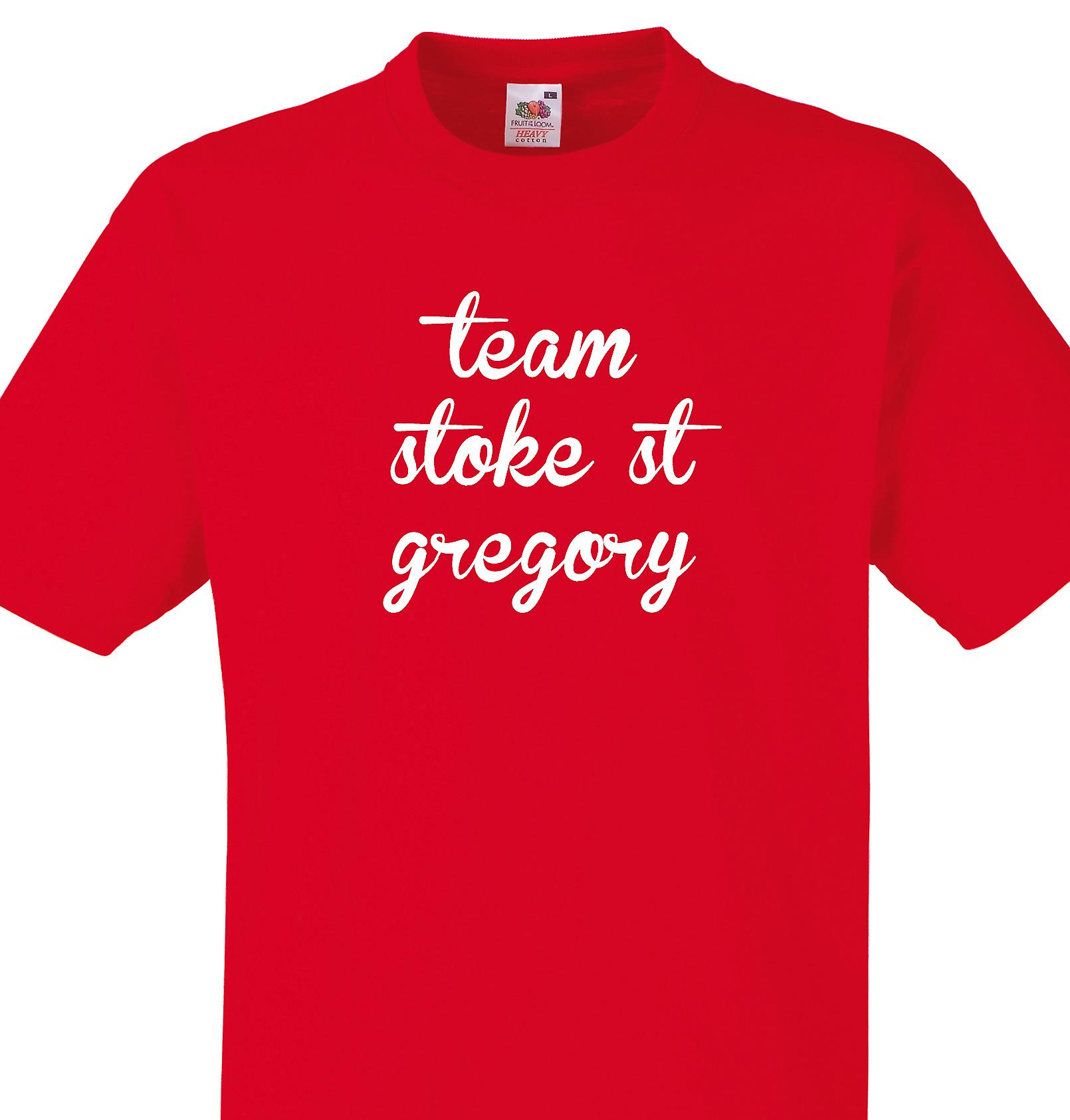 Team Stoke st gregory Red T shirt