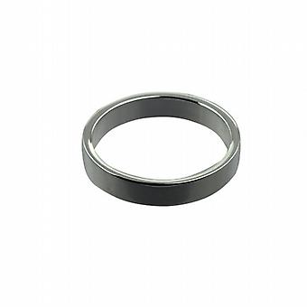 Platinum 4mm plain flat Wedding Ring Size Z