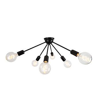 QAZQA Modern Ceiling Lamp 6 Black - Sputnik