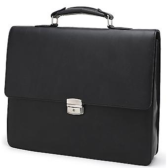 Dionysis Vegan Leder Slimline Briefcase - Dokument Inhaber Businesstasche - schwarz
