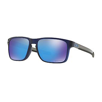 Oakley OO9384 03 Blue Holbrook Mix Rectangle Sunglasses Lens Category 3 Lens Mirrored Size 57mm