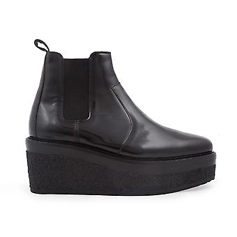 Pierre Hardy Shiny Black Leather Ankle Boots