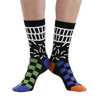 Monoclash peinado multicolor impar-calcetines de algodón | Por seriouslysillysocks