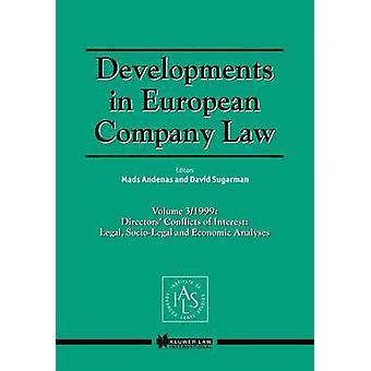 Evolución de la sociedad europea derecho Vol 3 1999 administración conflictos de intereses legales sociojurídico y análisis económicos de Andenas y Mads