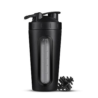 Shaker i rostfritt stål, 700 ml - Svart
