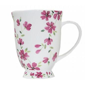 8 pack keramische thee koffie mok Marquee roze zomerbloemen (21240)