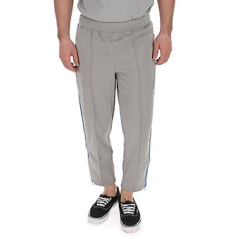 Comme Des Garçons Grey Polyester Pants