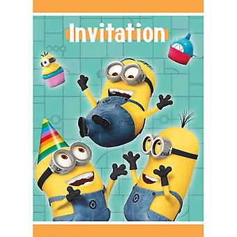 Despicable Me Party Invitations * SEUL PACK LAISSÉ EN STOCK *